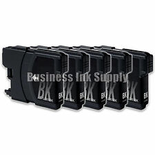 5 Black LC61 Ink Cartridges for Brother DCP-365CN DCP-385CW DCP-6690CN DCP-J125