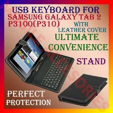ACM-USB KEYBOARD FOR SAMSUNG GALAXY TAB2 P3100 TABLET LEATHER CASE STAND COVER