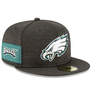 Philadelphia Eagles Hat New Era 59Fifty 5950 Fitted Cap Size 7 Gray Black Green
