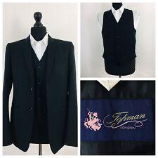 Topman Mens Suit Jacket & Waistcoat Chest 38 Black  YE663