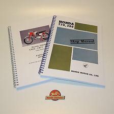 Taller de fábrica de Honda CB72 CB77 Manual del taller y piezas lista libro conjunto. HWM103