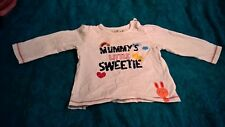 "Girls white long sleeve top ""Mummy's little sweetheart"" 9-12 months by Nutmeg"