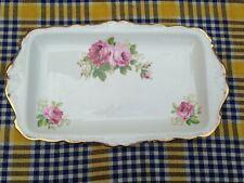 "Gorgeous Vintage Royal Albert ""American Beauty"" Gilded Bone China Sandwich Plate"