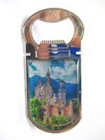 Neuschwanstein Schloss Metall Flaschenöffner Magnet 9,5 cm Souvenir Germany