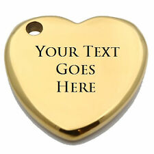 Customizable Laser Engraved Heart Shaped Gold Plated Tungsten Carbide Keychain