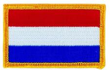 Patch écusson brodé Drapeau HOLLANDE PAYS BAS Holandais  Thermocollant Blason
