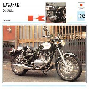 Fiche Photo Moto Japon Japan KAWASAKI 250 Estrella 1992 Edit Edito Service