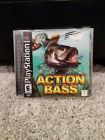 Reel Fishing & Action Bass PS1 Sony Playstation Complete Lot Tested/Working