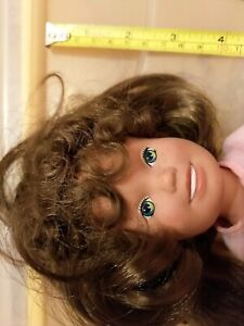 DOLLY SURPRISE PlaySkool BROWN HAIR GROWS LONGER Clothes Shoes Chrissy 1980s #4