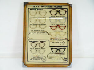 Norville - Optical NHS Spectacle Frame Display Case - Vintage & Rare