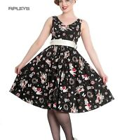Hell Bunny Christmas Noel 50s Pin Up Rockabilly Dress BLITZEN Black All Sizes