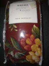 2001 Waverly Garden Room Floral Manor Twin Bed Skirt  BEDSKIRT NEW