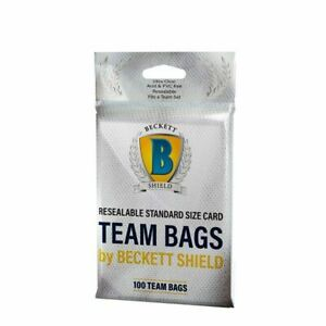 BECKETT  TEAM BAGS (RESEALABLE)* Standard Size Collectible Card (200ct) shield
