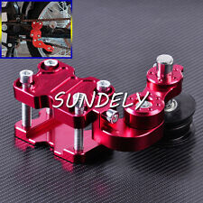 Red Adjuster Chain Tensioner Bolt On Roller Motorcycle Chopper ATV Pit Bike UK