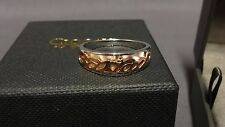 Welsh Clogau Silver & Rose Gold Cariad Ring Size K RRP £189