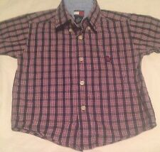 Tommy Hilfiger Boys Size 4T Short Sleeve Button Up Shirt