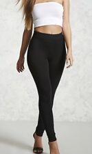 New Women's Classic Long Leggings Cotton Blend Long Color Black Size L