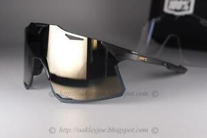 100% HYPERCRAFT MATTE BLACK - SOFT GOLD MIRROR LENS 61039-019-69