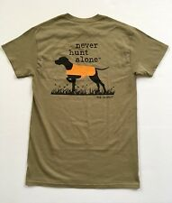 Dog Is Good Mens T Shirt  Short Sleeve Size S Never Hunt Alone