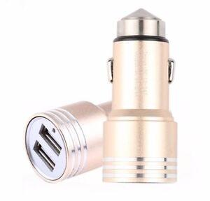 NWGEAR 12V Dual Port USB Car Charger Cigarette Lighter Fast Charging GOLD
