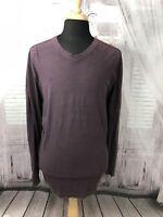 Tommy Bahama Mens T Shirt Long Sleeve V Neck Cotton Purple Sz XXL 2XL