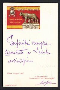 79° REGGIMENTO FANTERIA - Cartolina formato piccolo viaggiata - 1904