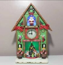 Enesco Tick Tock Till Christmas Musical/Lights Cuckoo Clock