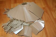 LOT 200 100 LARGE 100 SMAL Scalloped KRAFT Print  Paper Price Tags with String