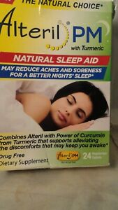 Alteril PM Natural Sleep Aid, 24 Count exp 2-2021