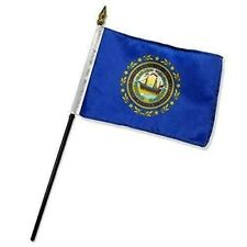 "New Hampshire 4"" x 6"" Table Top Flag with 10"" Black Plastic Staff"