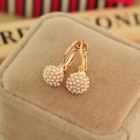 HOT Fashion Jewelry Women Lady Elegant Pearl Beads Dangle Ear Stud Earrings HL7