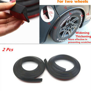 2Pcs Scratch Anti-rub Mat Car Fender Flare Extension Wheel Eyebrow Protector Pad