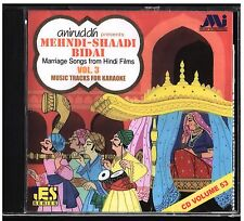 Hindi Karaoke CD Mehndi Shaadi Bidai Marriage Songs Films Vol 3 Aniruddh Music