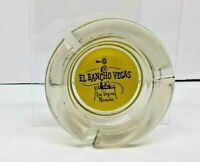 "OBSOLETE EL RANCHO HOTEL LAS VEGAS ASHTRAY SMOKED TINTED 4"" ROUND"