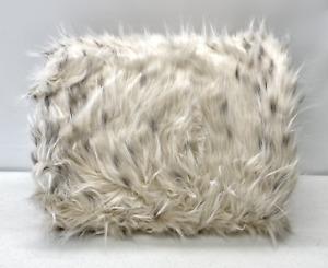"NEW Pottery Barn TEEN Faux Fur MEDIUM 36"" Beanbag Chair Slipcover Cover~SNOW CAT"