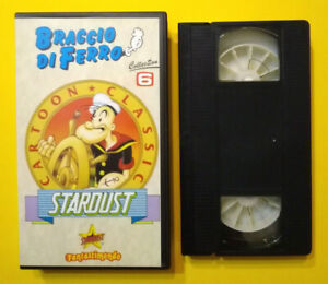 VHS Ita Animazione BRACCIO DI FERRO Collection 6 Cartoon Classic Stardust (V203)