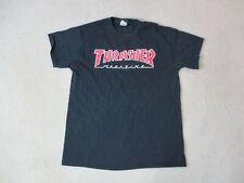 Thrasher Magazine Shirt Adult Medium Black Red Skater Skateboard Skating Mens