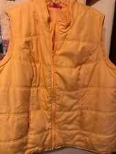 Women's Plus Size Puffer Vest Size 3X Yellow Woman Within