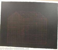 """Horst antes """"la gran casa"""" Cromolitografía sobre papel de lino, 89/100"""