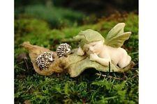 Miniature Sleeping Fairy Baby with Hedgehogs T 4321 Fairy Garden Figurine