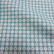 Stoff Baumwolle Mille Fleur Kreise türkis grau weiß Blume geblümt Trend 2017