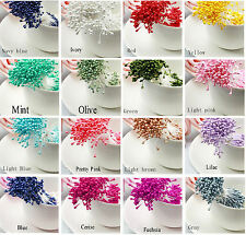 Pearl Flower Stamens, Double Ended Craft Embellishments for Floral Crafts x 30