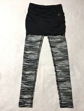 Zumba Wear Spicy XS Extra Small Black Gray Skirted Treaded Skirt Leggings