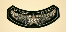 2003 20 Years of Hog Harley Davidson MotorCycle Cloth Jacket Patch New NOS