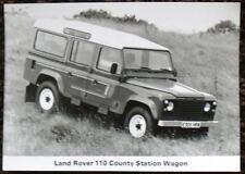 LAND ROVER 110 COUNTY STATION WAGON PRESS PHOTOGRAPH BLACK & WHITE 1987 - 1988