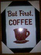 Coffee quotes, kitchen quotes, decor frames, wood frames