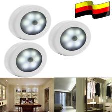 3X LED  Nachtlicht mit Bewegungsmelder Sensor Nachtleuchte Lampe Schrankleuchten