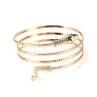 Women Coild Snake Spiral Upper Arm Cuff Armlet Armband Bangle Bracelet Xmas Gift