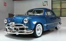 Ford Coupe Year 1949 Blue Metallic 1 24 Motormax
