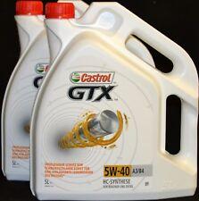 2x5 Liter Castrol GTX 5W-40 Motoröl 5W40 für Benziner und Diesel MB 229.3 VW